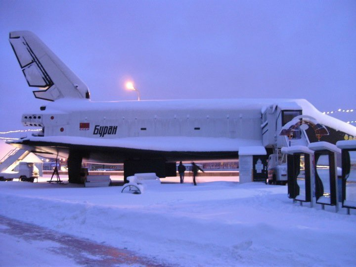 Side view of the Buran Space Shuttle in a Moscow Park