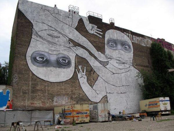 Mural by Blu - Before - Spotted in Kreuzberg