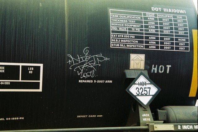 NITZ TAF (?) 2008 Marking spotted on a Freight Train