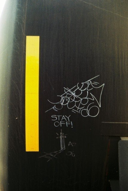 Stay Off! 06 - Hobo graffiti spotted on a Freight Train in Arizona