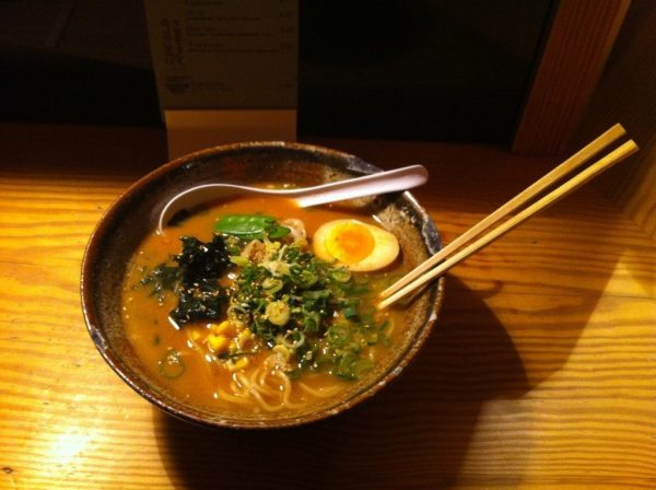 A Bowl of Miso Ramen at the Cocolo Ramenbar