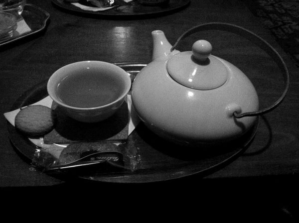 A Pot of Darjeeling first flush in the Tadschikische Teestube