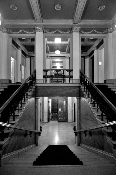 Stairway to the first floor of the Palais am Festungsgraben