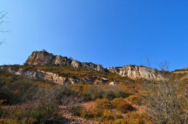Taking the scenic route around la roche de solutré