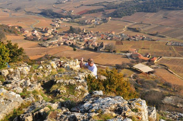 A Rock climber on la roche de solutré