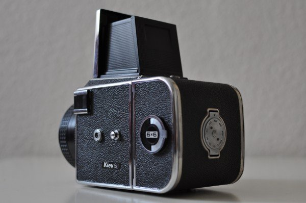 Kiev 88 Side View with Film Rewind Dial