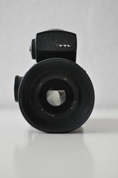 Kiev 88 with TTL Prism Finder and Rubber Sunshade lens hood