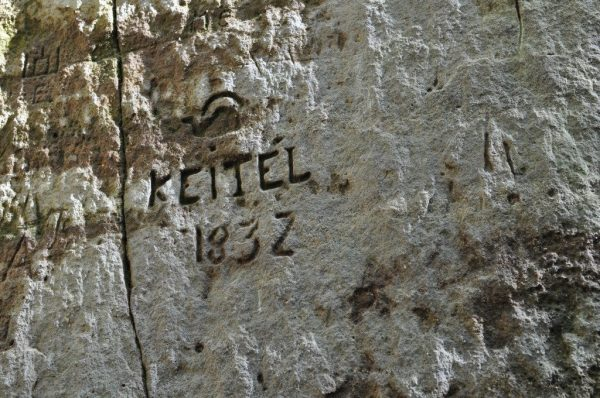 Graffiti from someone named Keitel from 1832