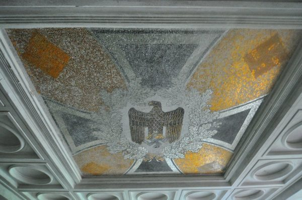 A Close up of the Entire Swastika and Eagle Mosaic at the Kaserne Krampnitz in Potsdam, Germany
