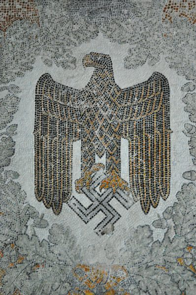Close up of the Eagle in the famous Swastika Mosaic of the Kaserne Krampnitz in Potsdam, Germany