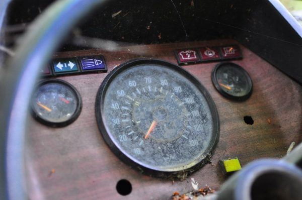 Dashboard of the famous Volkswagen Camper Van at the Kaserne Krampnitz