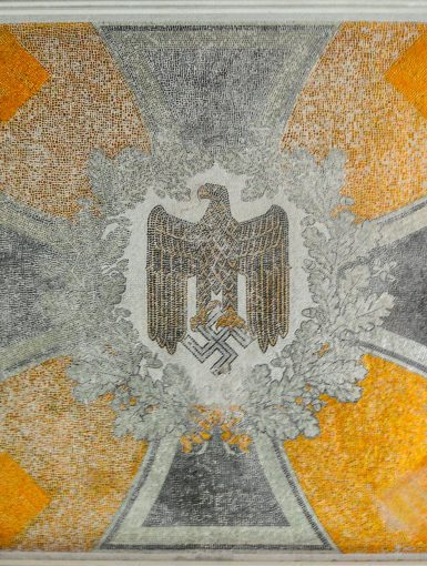 nazi eagle swastika mosaic tiles kaserne krampnitz abandoned potsdam berlin Kavallerieschule barracks Panzertruppenschule nazi soviet military base germany deutschland