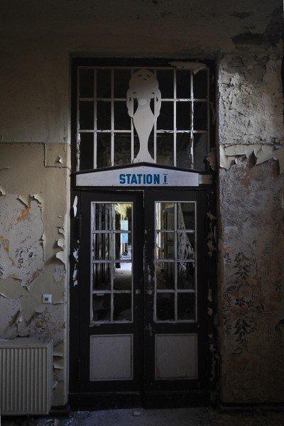 entrance to station I sanatorium e