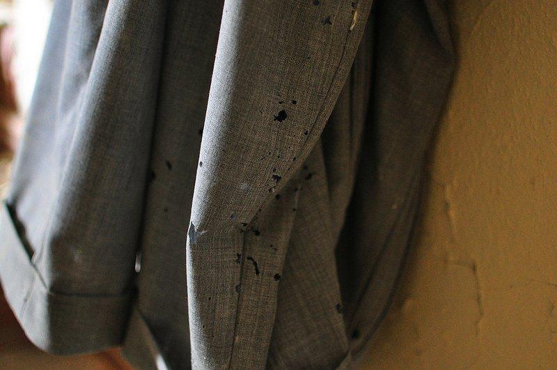 a pair of moth eaten pants