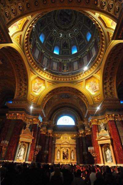 Cupola of the St Stephens Basilica in Budapest Hungary