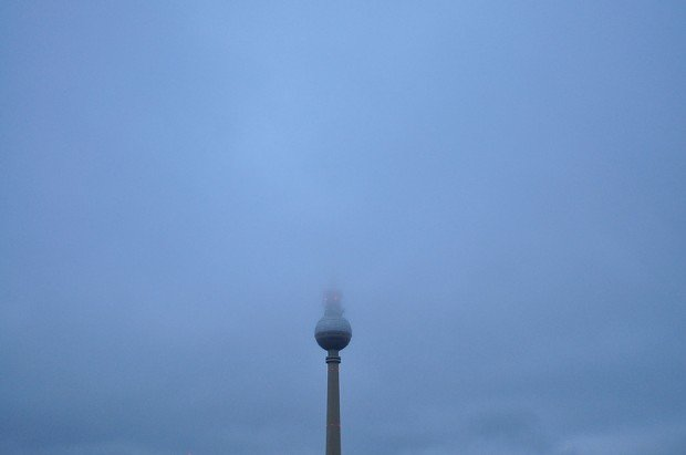 Berlin TV Tower in the Clouds