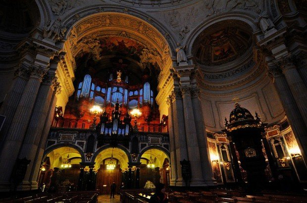 The Sauer Organ and Pulpit in the Berliner Dom