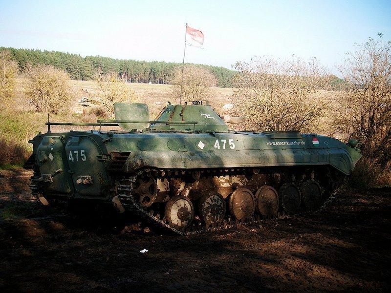 A Parked BMP 1 Tank in Brandenburg, Germany