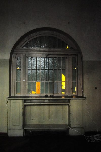 Inside view of the former Ticket Booth
