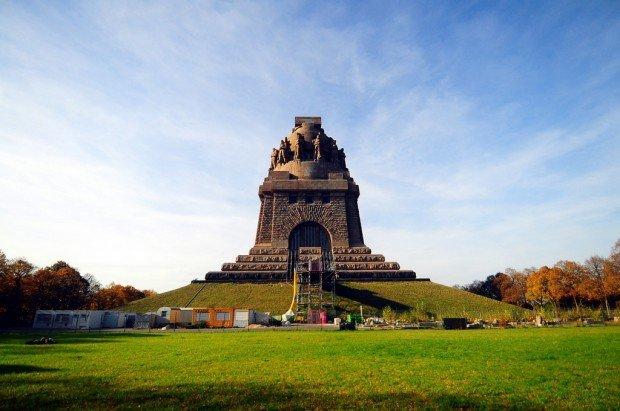 Völkerschlachtdenkmal Leipzig rear view