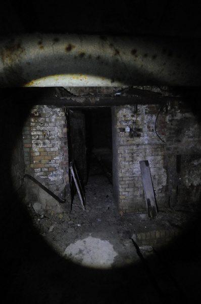 dark cellar doorway