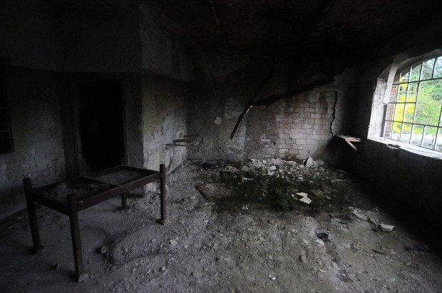 derelict office room