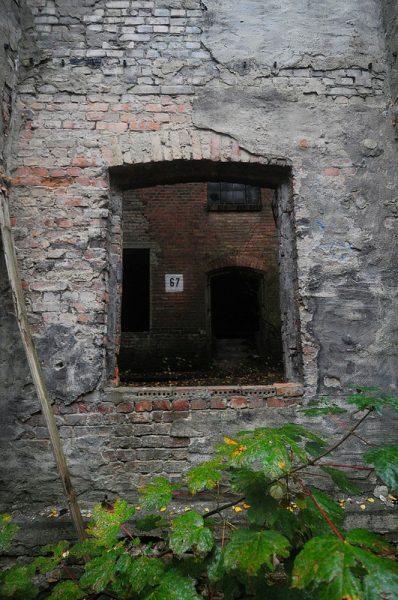 factory brick window frame