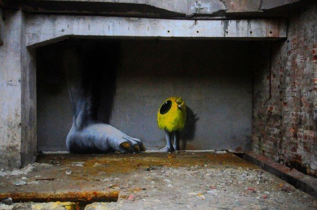 giant foot graffiti