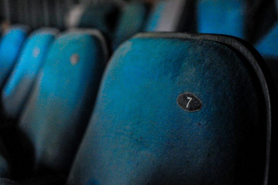 kino sojus row of cinema chairs abandoned cinema verlassenes kino lost places abandoned berlin germany