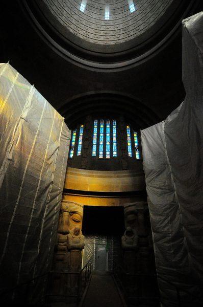 the crypt inside the Völkerschlachtdenkmal