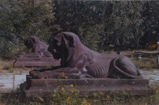 The Egyptian Lion Statues from the ULAP Exhibition Grounds
