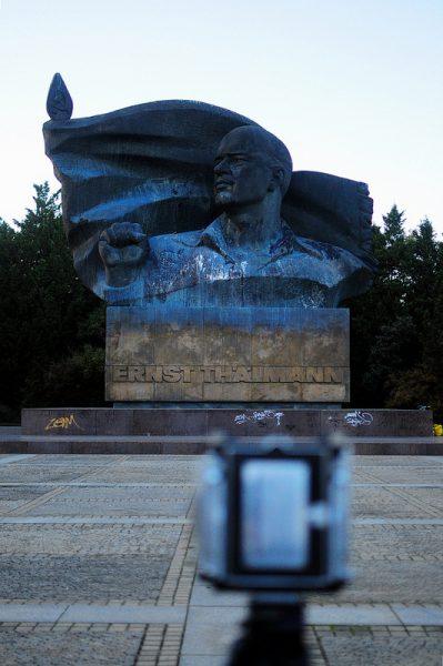 Ernst Thaelmann and a Linhof Camera