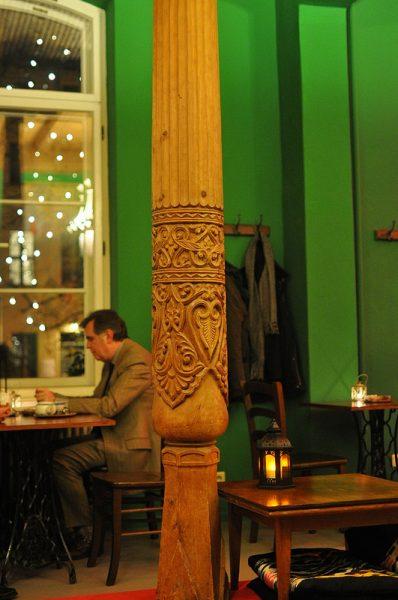 carved wooden pillar