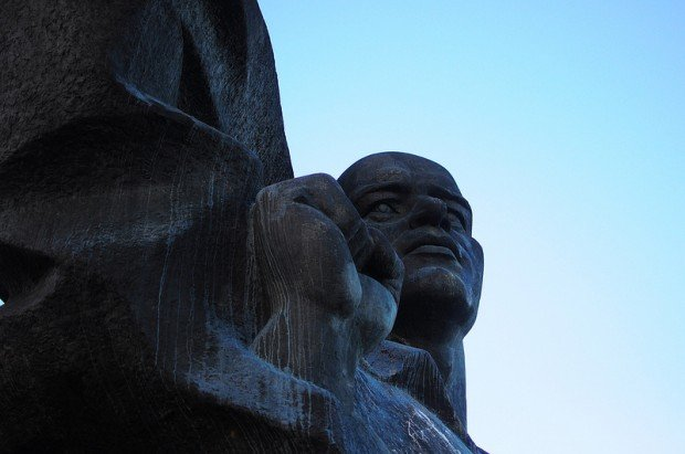 Close up of the Ernst Thälmann Denkmal in Berlin, Germany