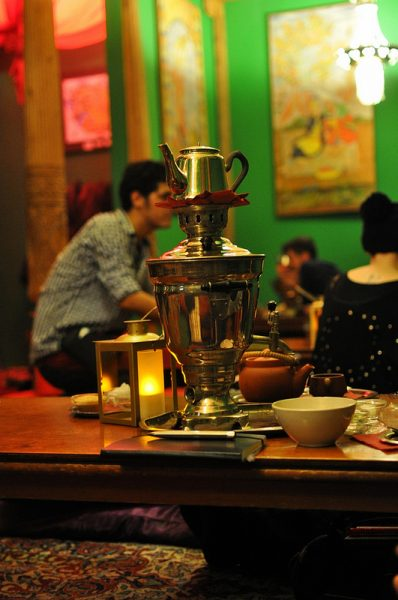 A Samovar in the Tadschikische Teestube Berlin