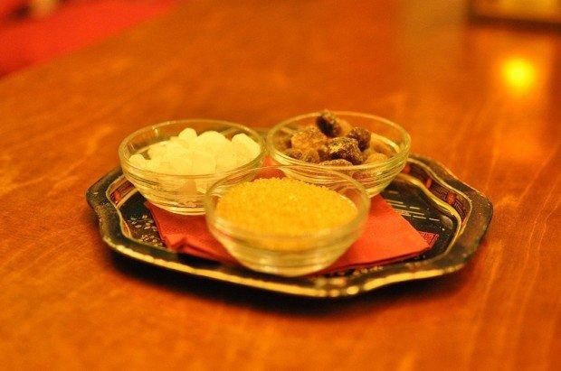sugar in the tadschikische teestube