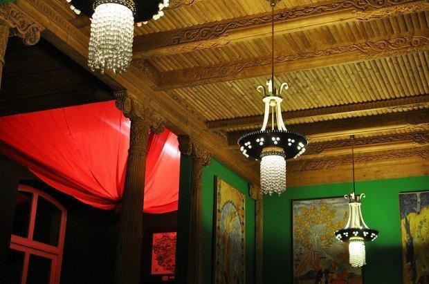 lamps in the tadjik tea room in berlin germany