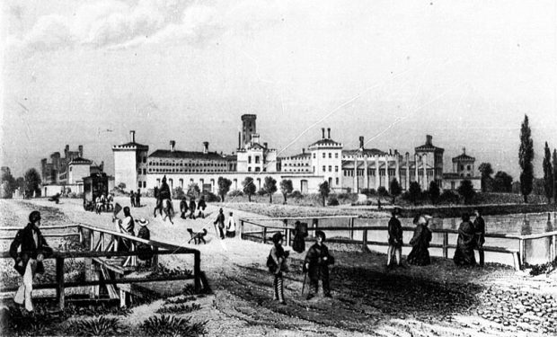 1855 Drawing of the Moabit Prison by Foltz