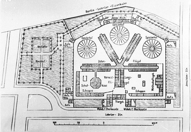 1896 Plan of the Moabit Prison