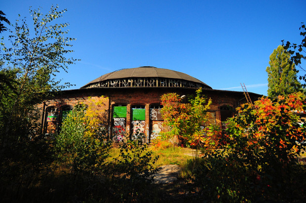 the abandoned roundhouse