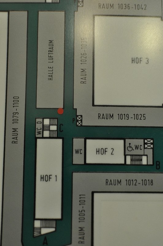 Paternoster located on a Map in the Rathaus Schöneberg