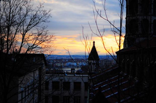 view from the eglise du bon pasteur in lyon, france
