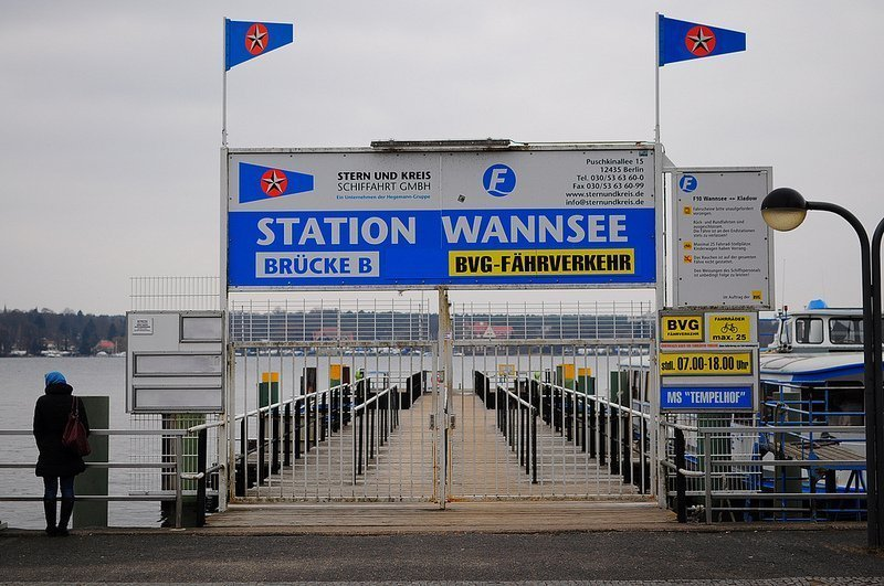 BVG Ferry Station Wannsee Berlin