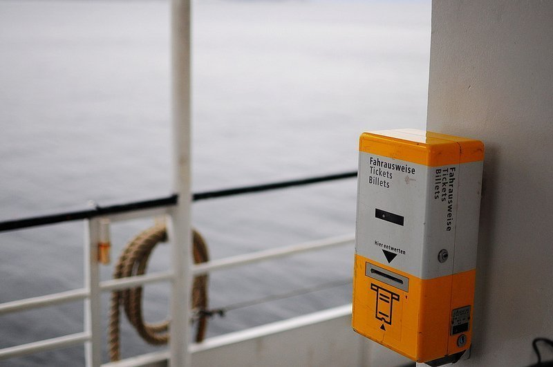 BVG Ticket Machine on a Ferry