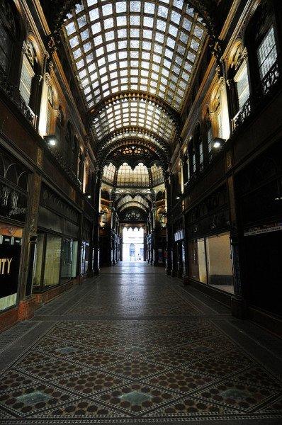 empty shopping passage budapest