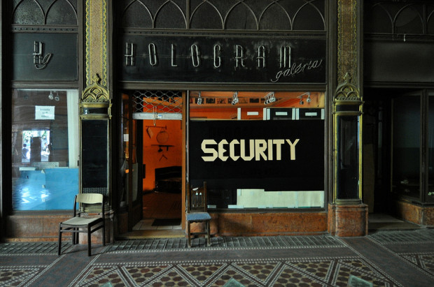security in the brudern-haz in budapest, hungary