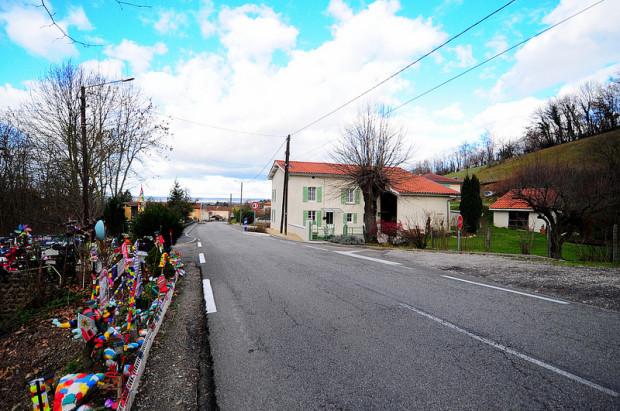 Road to Lens Lestang France