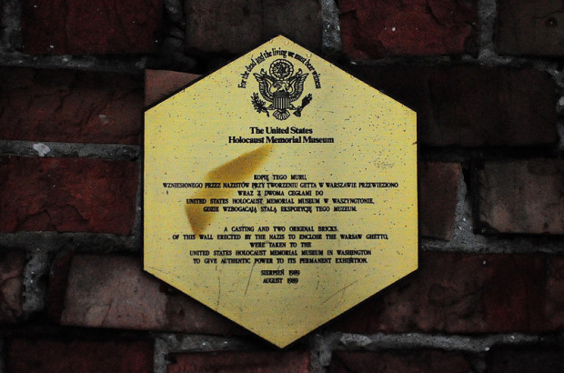 United States Holocaust Memorial Museum Plaque in Warsaw