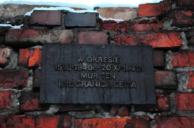 boundary wall of the warsaw ghetto