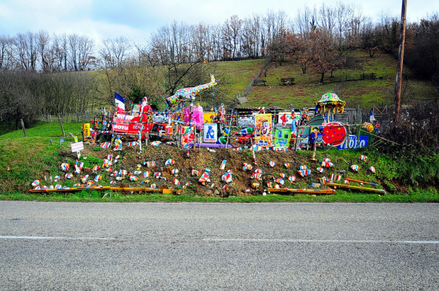 decorated hill